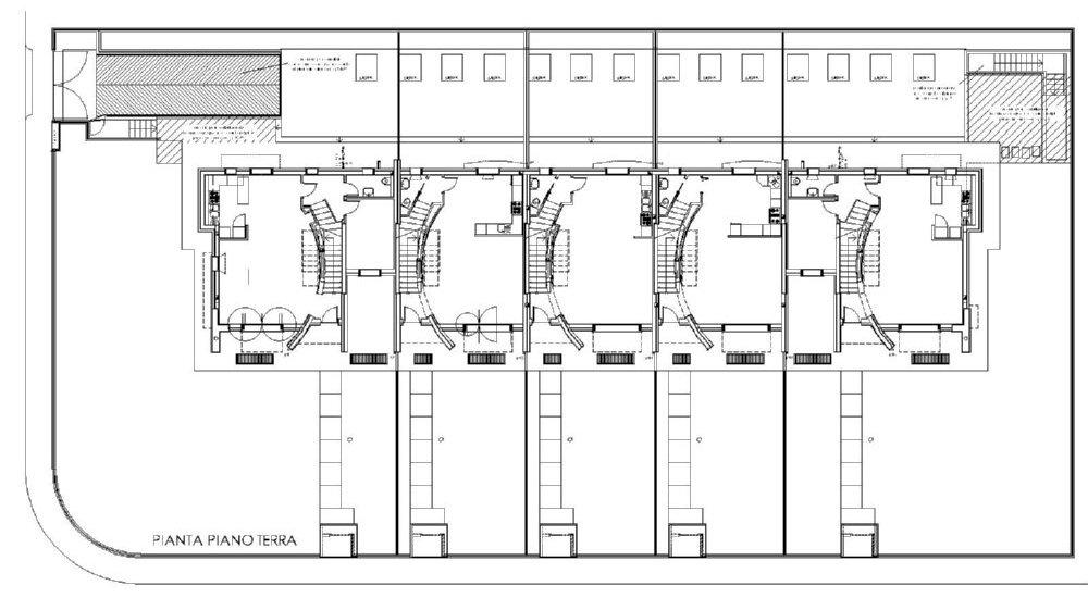Ville a schiera studiotekne for Progetto piano terra